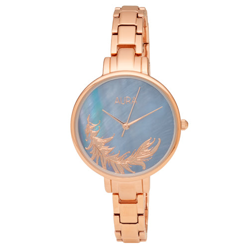 Aura Rose-tone Feather Watch 142939