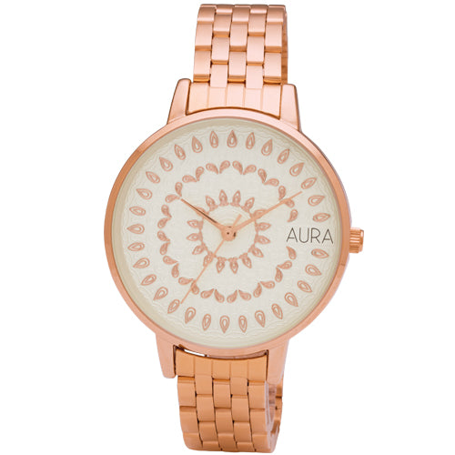 Aura Rose Tone Watch 142973