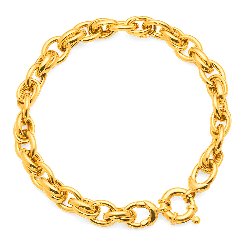 Gold Bonded Bolt Ring Bracelet