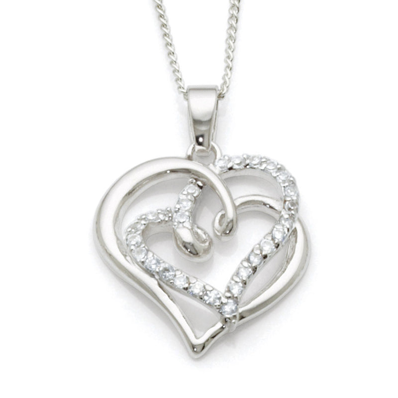 Sterling Silver Cubic Zirconia Pendant