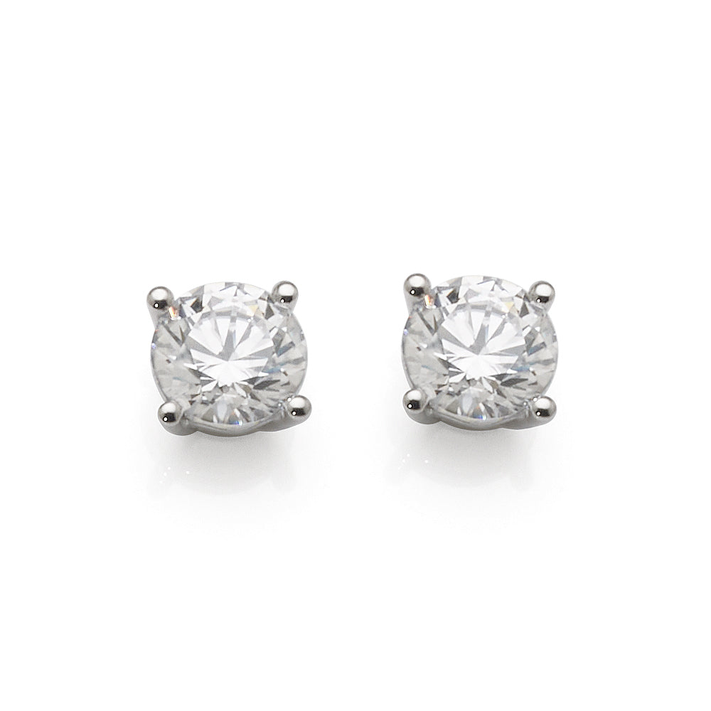 Evergem 9ct 6.5mm Swarovski Cubic Zirconia Studs