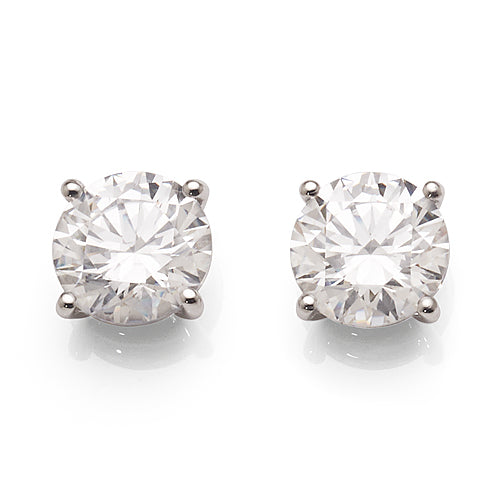 Evergem 9ct 8mm Swarovski Cubic Zirconia Studs