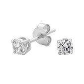 Georgini Sterling Silver 4mm CZ Studs E0094MM