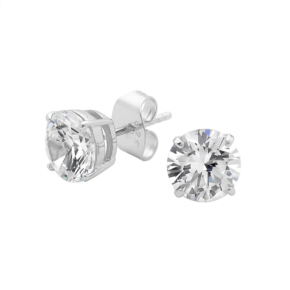 Georgini Sterling Silver 8mm CZ studs E0098MM