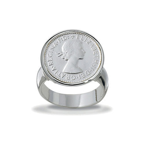Von Treskow Sterling Silver 3 Pence Ring VTR10-SS