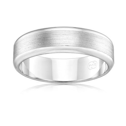 Peter W Beck 9ct White Gold Band