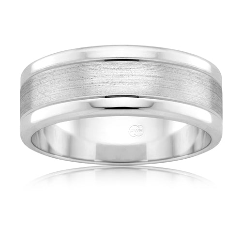 Peter W Beck 9ct White Gold Band F2702