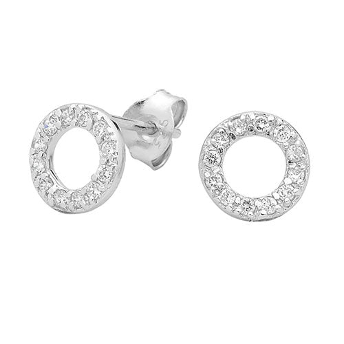 Georgini Sterling Silver CZ Circle Studs E248