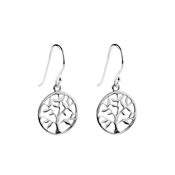 Najo Tree Of Life Sterling Silver Hooks E3211