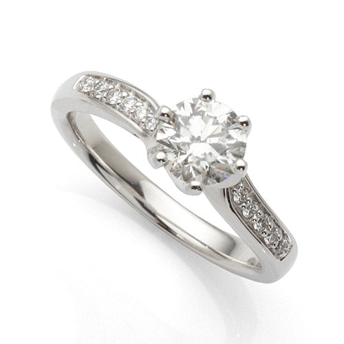Platinum Diamond Engagement Ring with 1ct Diamonds