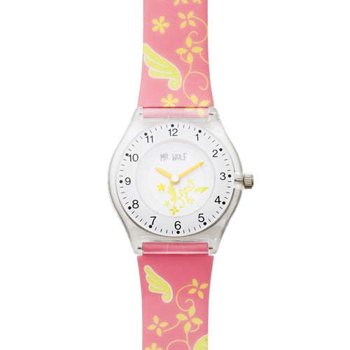 Mr Wolf Pink Slimline Watch