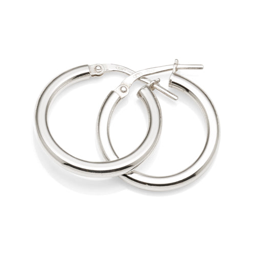 Sterling Silver 15mm Hoops