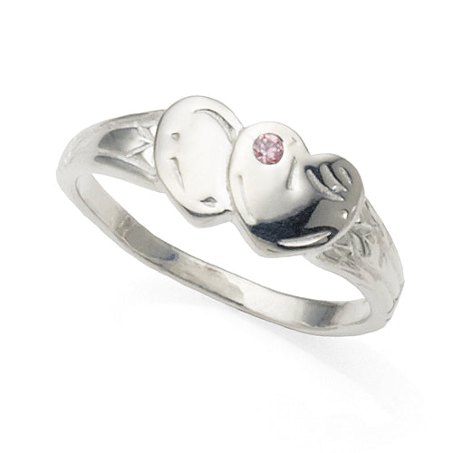 Sterling Silver Children's Cubic Zirconia Ring