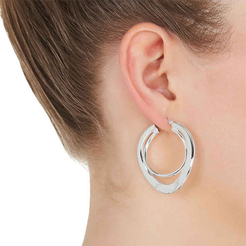 Najo Sterling Silver 40mm Hoops E2776