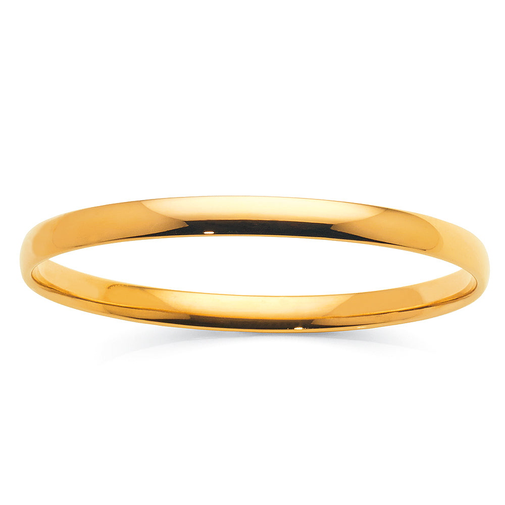 Yellow Gold Silver Filled 6mm Bangle