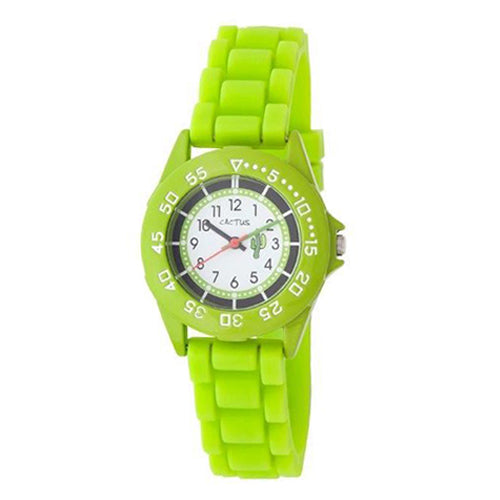 Cactus Green Rubber Strap Watch CAC64M12