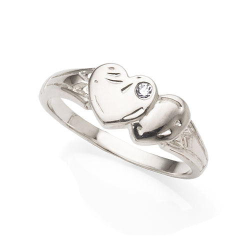 Sterling Silver Cubic Zirconia Signet Ring