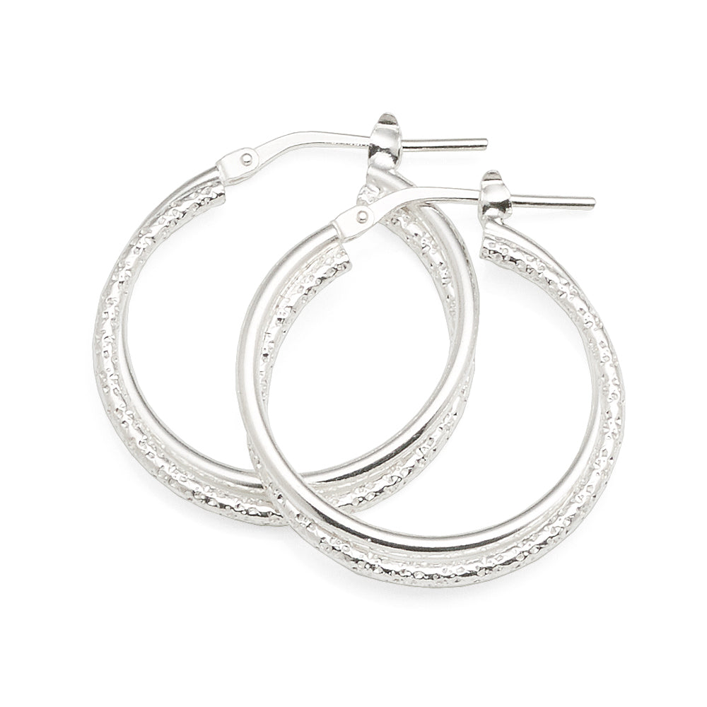 Sterling Silver 20mm Hoops
