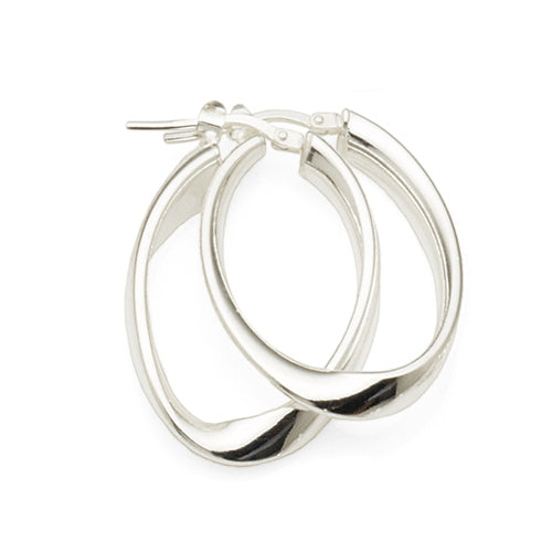 Sterling Silver 20mm Oval Hoops