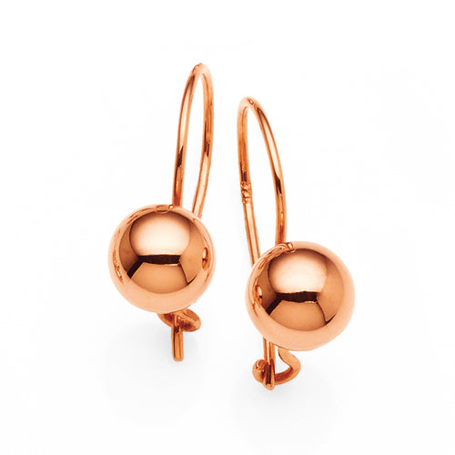 9ct Rose Gold 7mm Euroballs