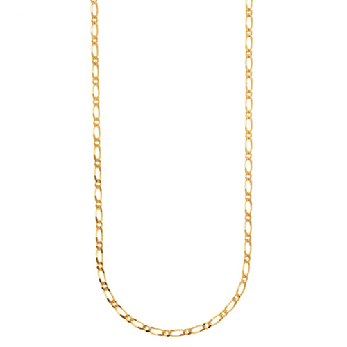 9ct Yellow Gold 40cm Figaro Link Chain