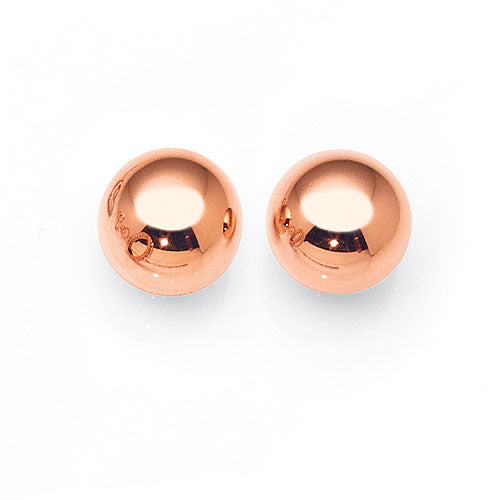 Rose Gold Bonded 9.5mm Ball Studs