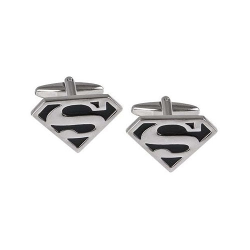 Silver Plated Superman Hero Cufflinks