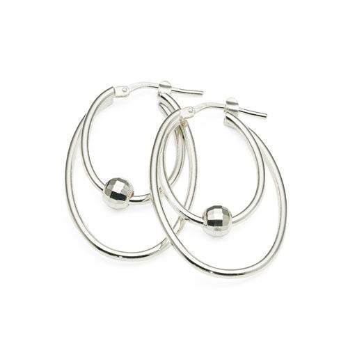 Sterling Silver 30mm Oval Hoops