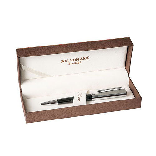 Jos Von Arx Silver Plated & Black Pen Gift Box