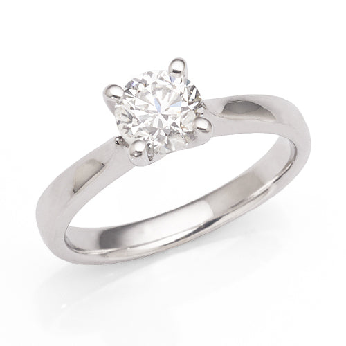 1 carat Diamond Solitaire Ring in 18ct White Gold