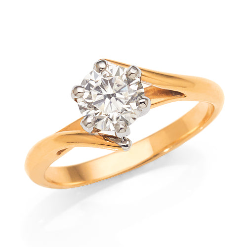 1ct Solitaire Engagement Ring in 18ct Yellow Gold