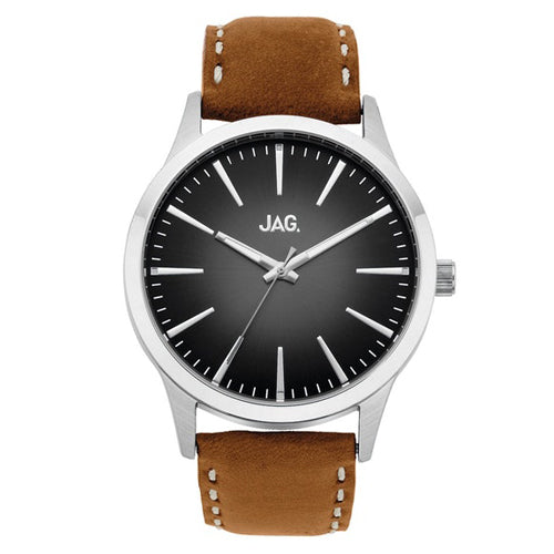 Jag 'Hunter' Leather Strap Watch J1811
