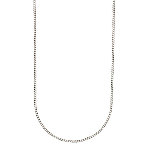 9ct White Gold Curb Link Chain