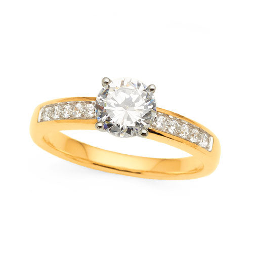 1.2ct Diamond Engagement Ring in 18ct Yellow Gold