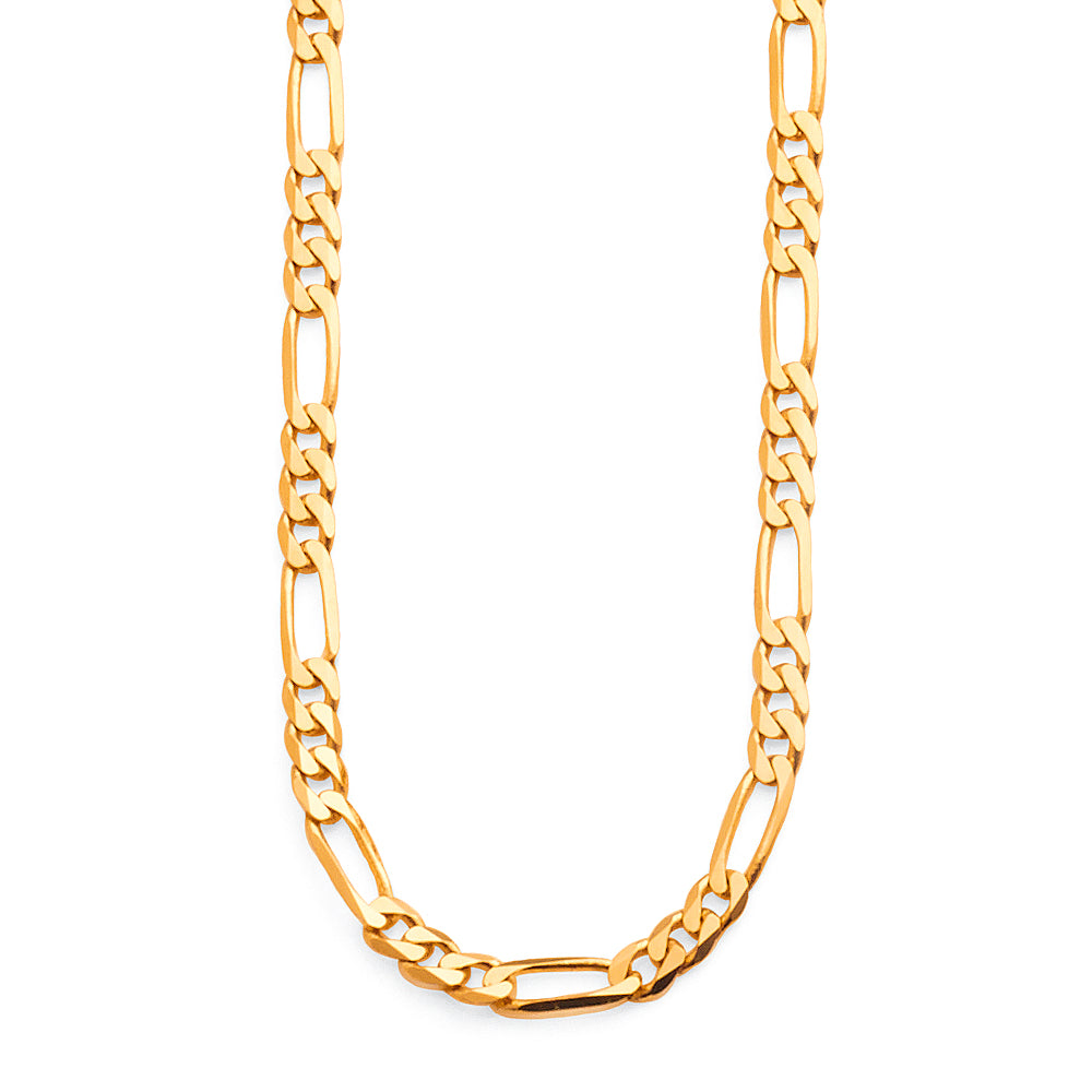 9ct Yellow Gold 45cm Figaro Link Chain