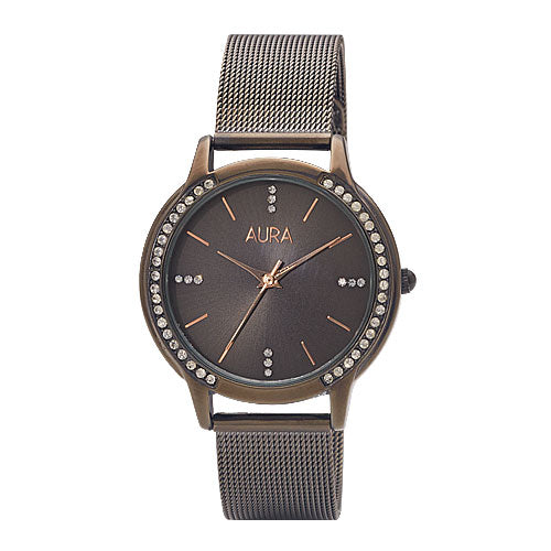 Aura Crystal Mesh Watch 184425