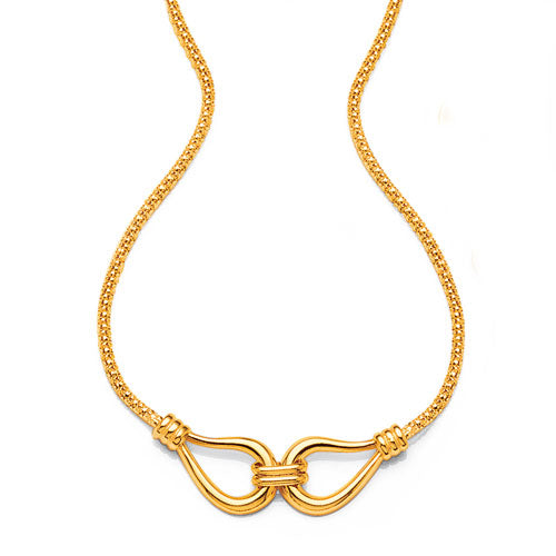 9ct Yellow Gold 42cm Necklet
