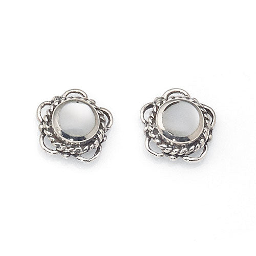 Sterling Silver Mother of Pearl Studs