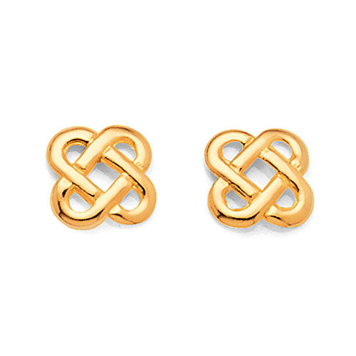 9ct Yellow Gold Celtic Studs