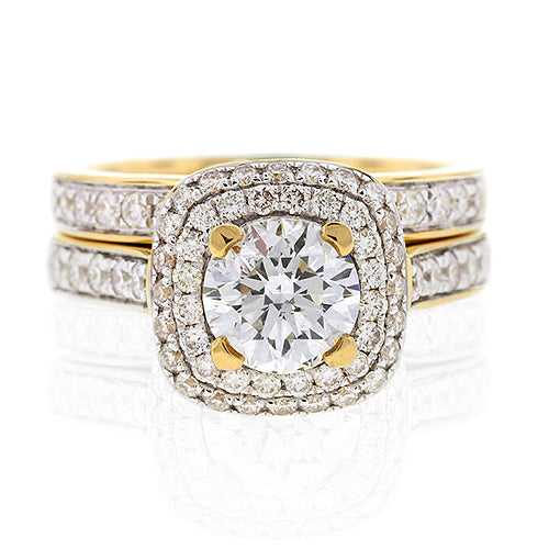 Diamond Bridal Set in 18ct Yellow Gold