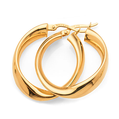 Yellow Gold Bonded 20mm Hoops