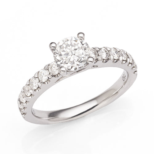 Engagement Ring With 1.5Ct TW Of Diamonds