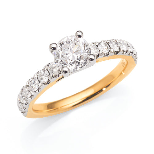 18ct Gold Engagement Ring With 1.5ct TW of Diamond