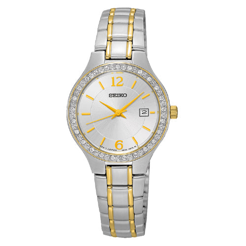 SEIKO Ladies 2-Tone Crystal Watch SUR783P