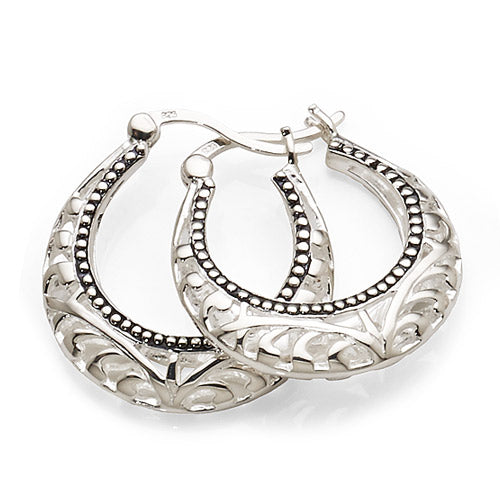 Sterling Silver 13mm Hoops