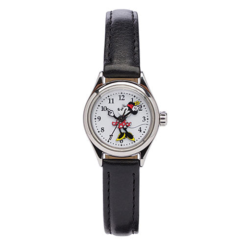 Minnie Mouse Black Leather Watch TA56702