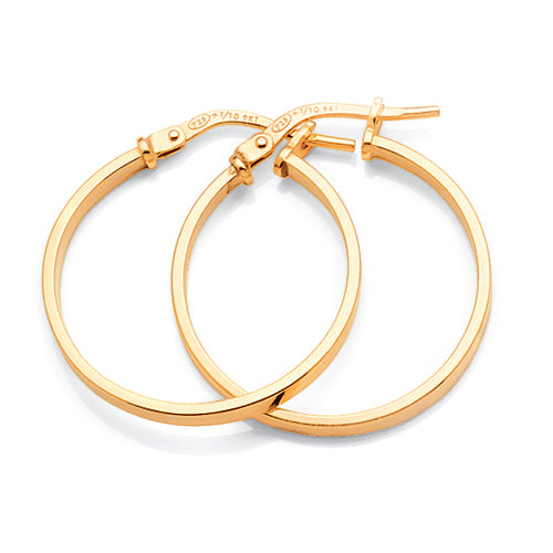 Gold Bonded 20mm Hoops