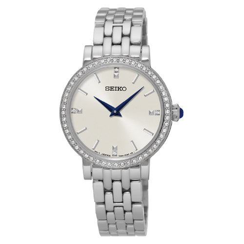 SEIKO Conceptual Ladies Crystal Set Watch SFQ811P