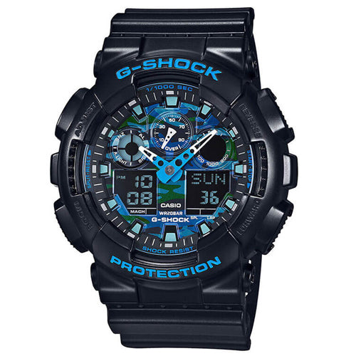Casio G-Shock 'Cool Blue' Watch GA100CB-1A
