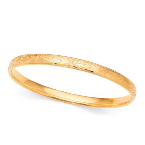 Yellow Gold Silver Filled Bangle